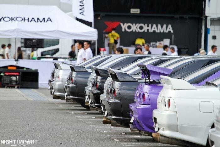 Массовый сбор владельцев Skyline в Японии (80 фото)