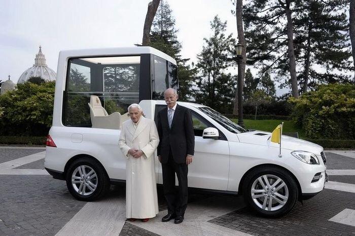 Новый папа-мобиль от Mercedes-Benz (6 фото)