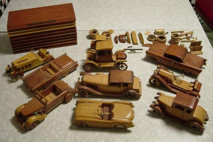 Найдено на Ebay. 10 винтажных американских авто из дерева (12 фото)