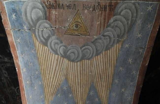 В румынской церкви найдены фрески с изображением Конца Света... (2 фото)