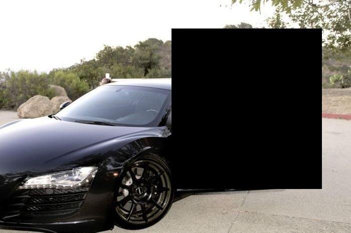 Найдено на Ebay. Продажа Audi R8 с привлечением страшной силы (17 фото)