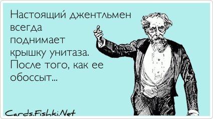 Настоящий джентльмен всегда поднимает крышку... от unknown_user за 31 декабря 2012