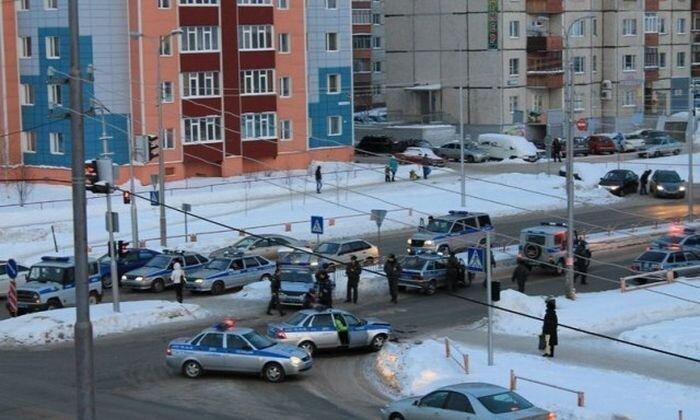 ДТП с двумя полицейскими машинами