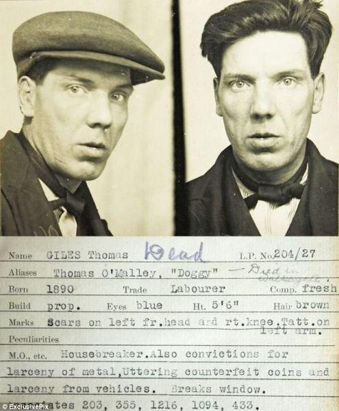 Магшоты преступников 1930-х годов (17 фото)