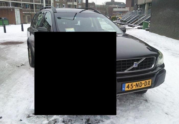 Очень невнимательная девушка на Volvo XC90 (3 фото)