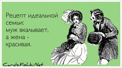 Рецепт идеальной семьи: муж вкалывает, а жена -...