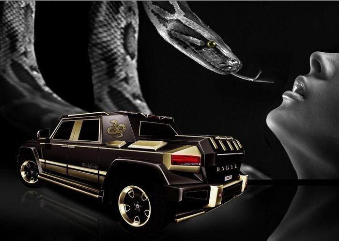 Новый люксовый внедорожник Dartz Black Snake (14 фото)
