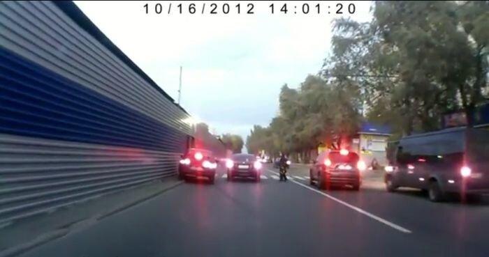 Автомобильная удача на дороге (видео)