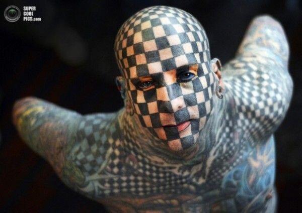 Мэтт Гон - Человек-шахматы (5 фото)