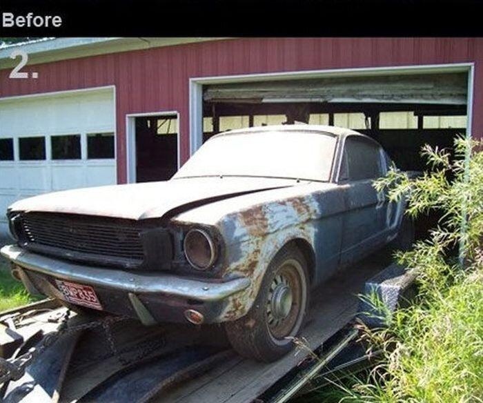 Автомобили ДО и ПОСЛЕ реставрации (11 фото)