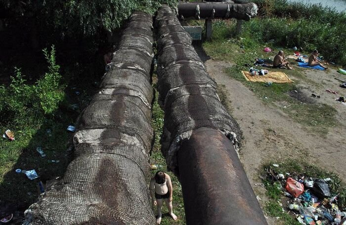 Отдых на берегу Иртыша (12 фото)