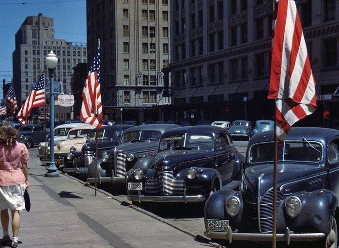 Американские автомобили в период 40-60-х годов (94 фото)