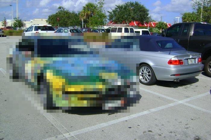 Найдено на Ebay. BMW 850Ci в необычной раскраске (54 фото)