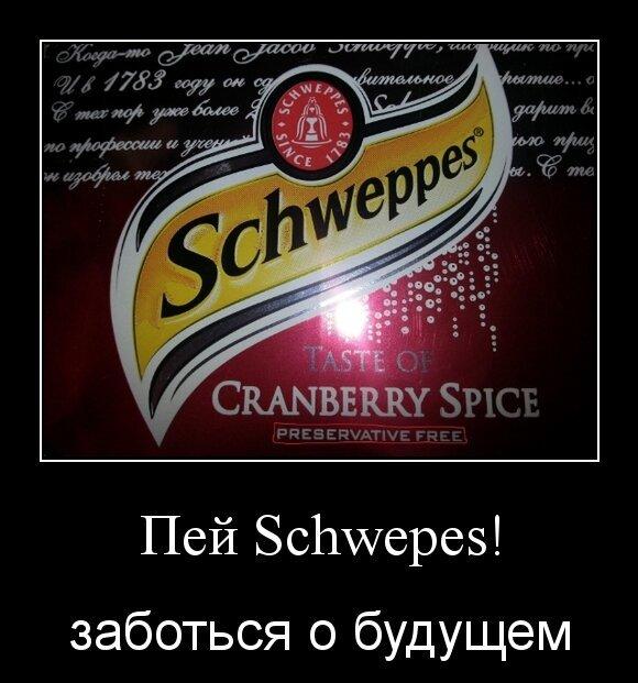 Пей Schwepes!