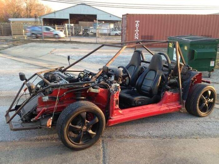 Найдено на Ebay. Из Porsche Boxster сделали багги! (6 фото)