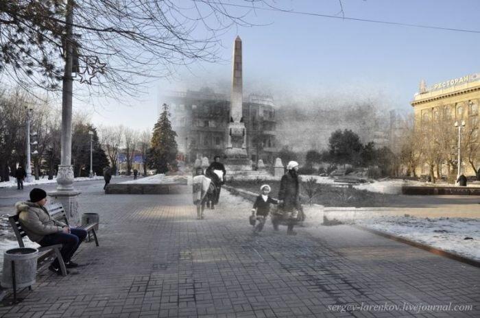 Сталинград тогда и сейчас (66 фото)