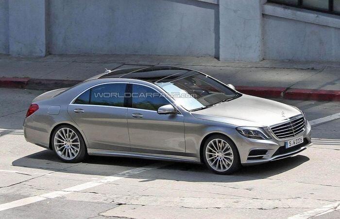 Первые фото без камуфляжа нового Mercedes-Benz S-Class W222 (27 фото)