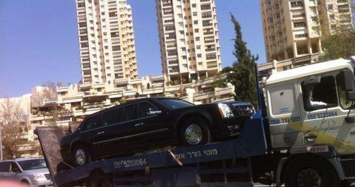 Лимузин Обамы заправили бензином вместо дизеля :)) (11 фото+видео)
