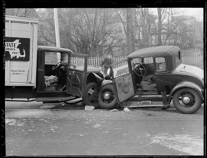 Американские аварии 20-х и 30-х годов (40 фото)