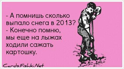 - А помнишь сколько выпало снега в 2013? - Конечно помню,...