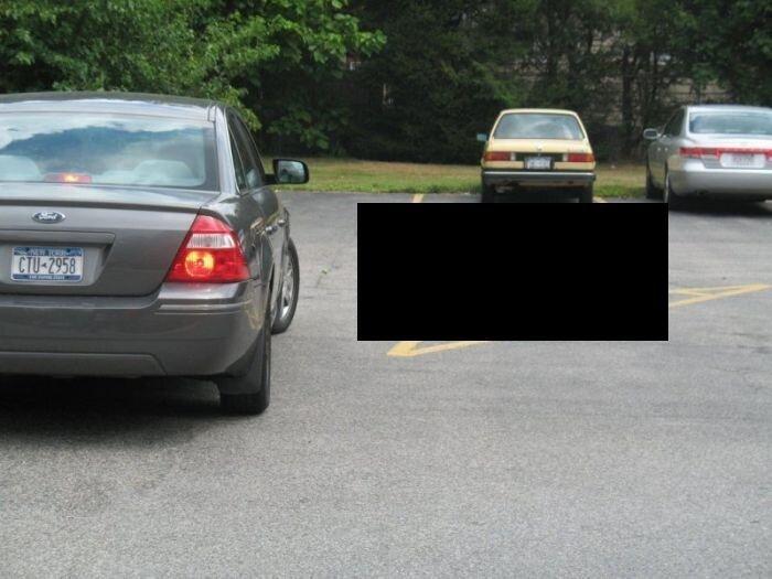 Что только не увидишь на автомобильной парковке (6 фото)