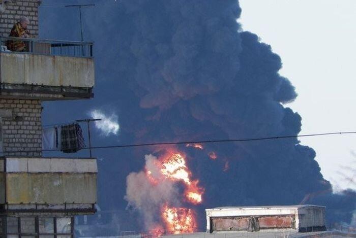 Пожар на Углегорской ТЭС (5 фото+видео)