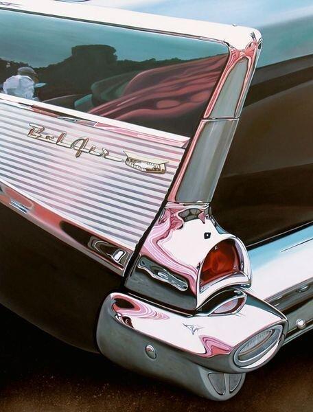Рисованные ретро-автомобили (18 фото)