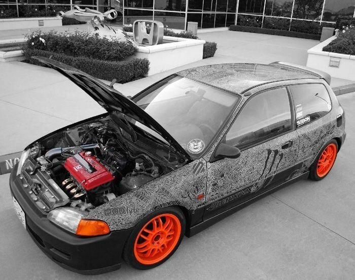 Полностью гравированный Honda Civic (39 фото)