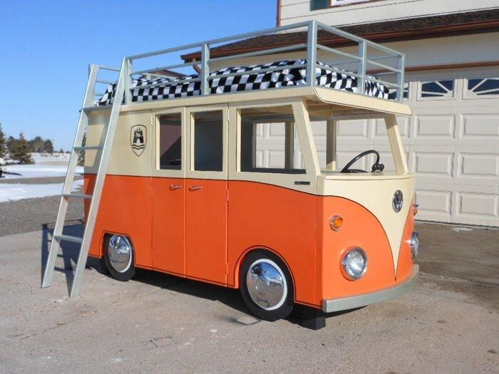 Кровать в виде Volkswagen T1 (14 фото)