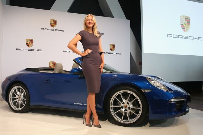 Мария Шарапова стала рекламным лицом марки Porsche (16 фото)