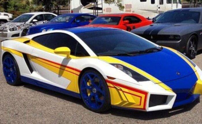 Яркий Lamborghini Gallardo Криса Брауна (5 фото)