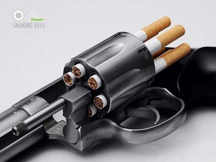 Самые убедительные принты против курения (32 фото)