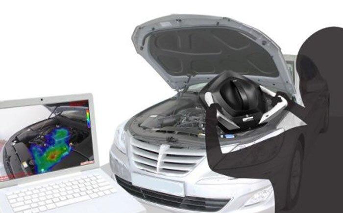 Портативная звуковая камера, которая поможет найти неисправность любого авто (3 фото+видео)