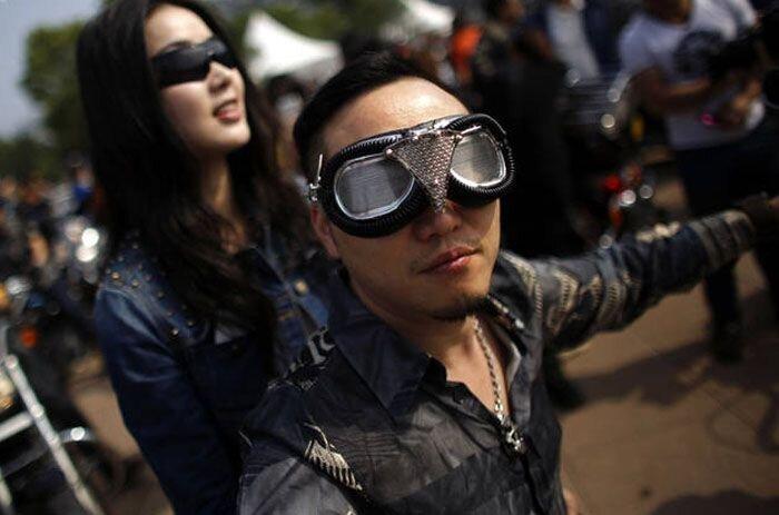 Ежегодное ралли Harley-Davidson в Китае (26 фото)