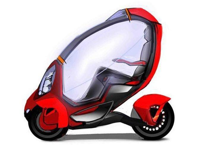 Гаджет на колесах e-Trike из Сколково (2 фото+видео)