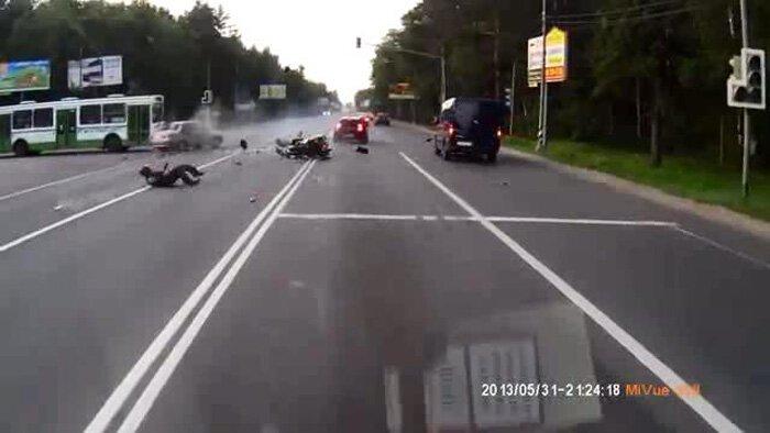 Авария дня часть 1063 (фото+видео)