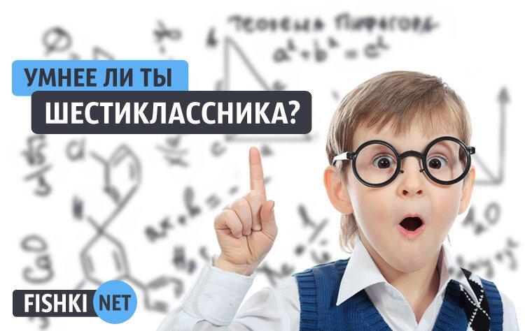 Тест: Умнее ли ты шестиклассника?