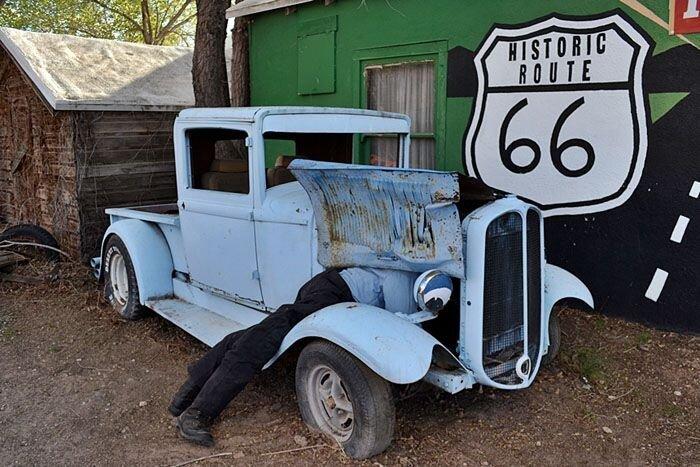 Историческая трасса Route 66 в США (27 фото)