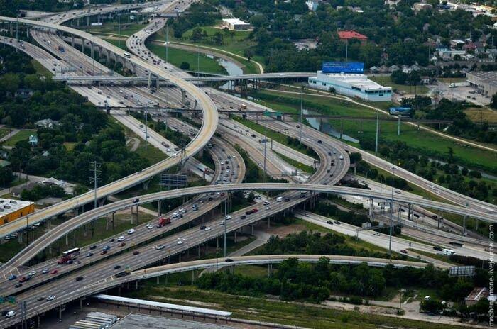 Как строят американские дороги (42 фото)