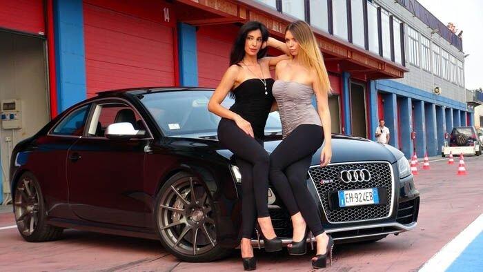 Сексуальные девушки и красивые автомобили (57 фото)