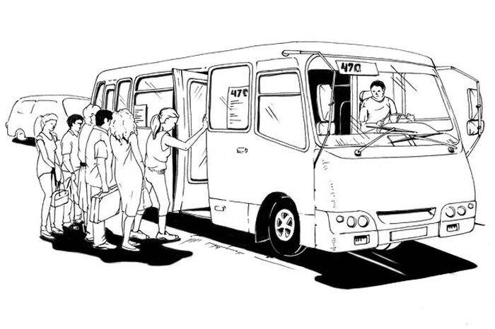 Как работает водитель маршрутки (2 фото)