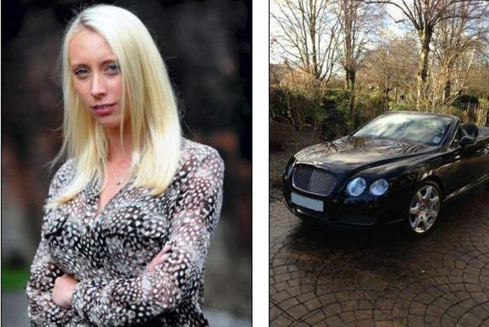 Девушка оставила Bentley на автомойке (4 фото)