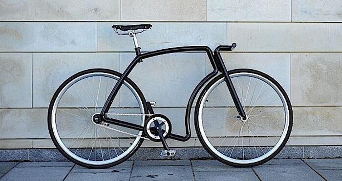 Эстонский велосипед с необычной рамой (21 фото)