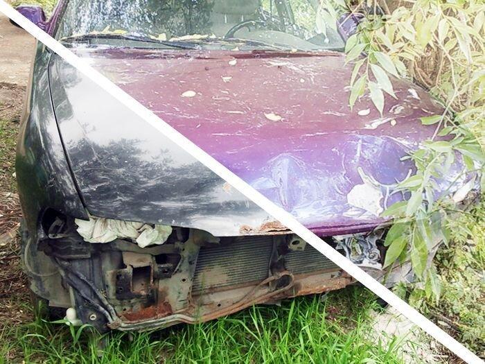 Восстановление двух гнилых Mazda 626 (98 фото)