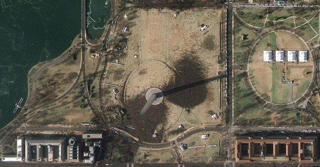 Инаугурация Обамы: вид сверху (2 фото)