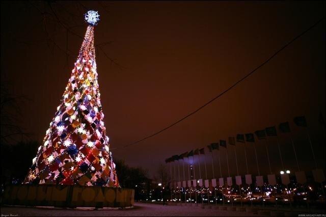 Новогодние елки Москвы (44 фото)