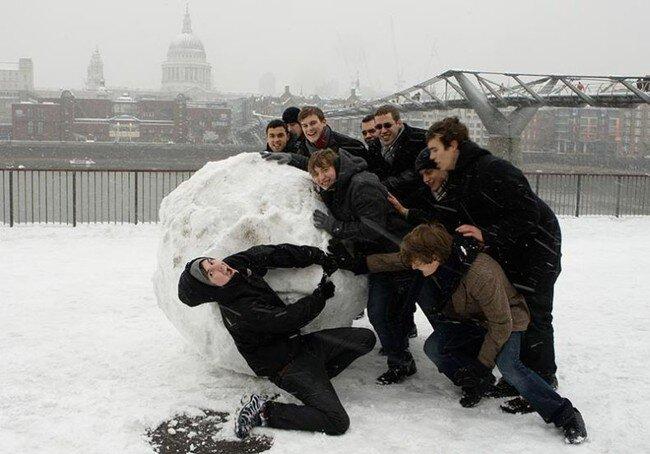 Снегопад в Лондоне (57 фото)
