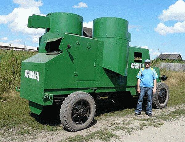 Деревенский конструктор танков (22 фото)
