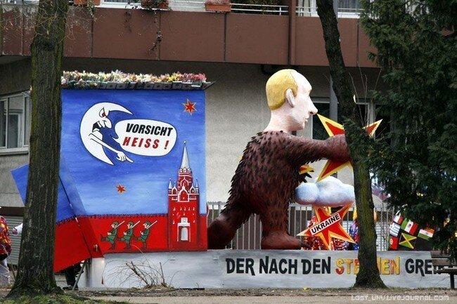 Политическая сатира на карнавале в Кёльне (26 фото)