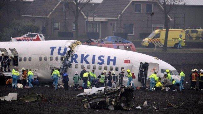 Крушение самолета в Амстердаме (17 фото + видео)